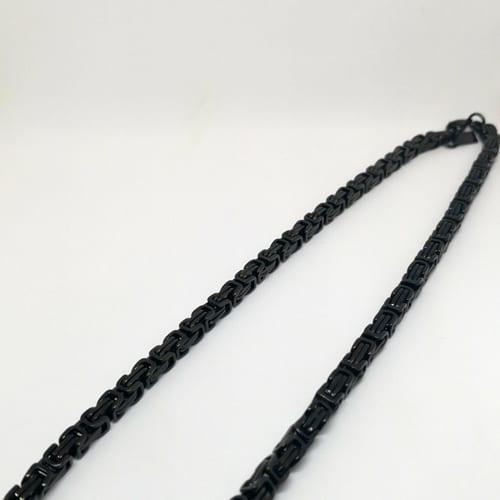 Muški lančić od čelika u kombinaciji crnog rodija