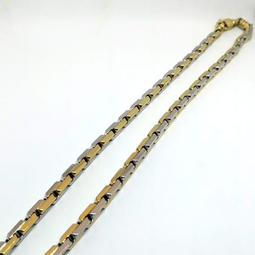 Muški lančić od žutog i bijelog zlata 67,1 g