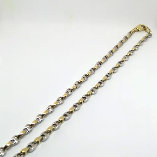 Muški lančić od žutog i bijelog zlata 41,7 g