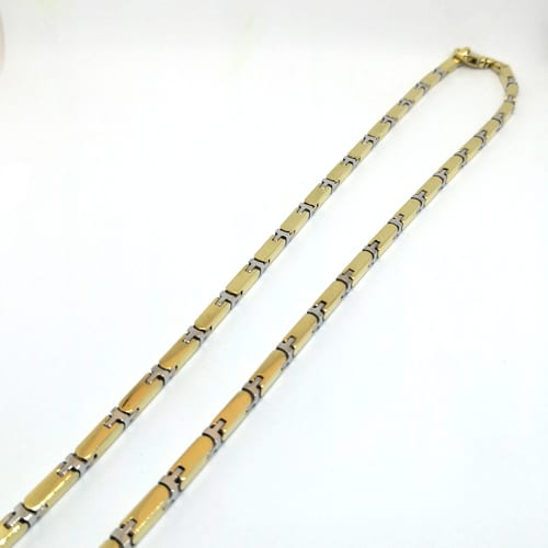 Muški lančić od žutog i bijelog zlata