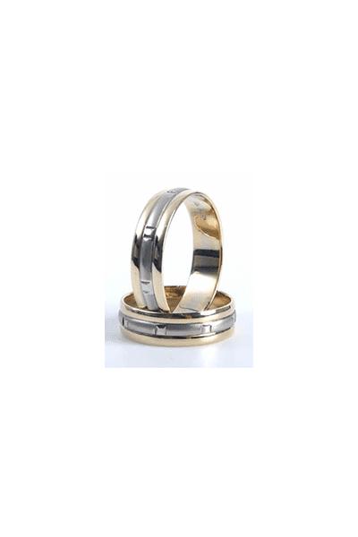 Lewiko zlatni vjenčani prsten s detaljima, 6 mm