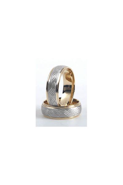 Lewiko zlatni vjenčani prsteni od bijelog i žutog zlata