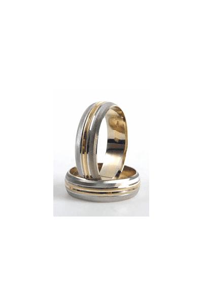 LEWIKO Zlatni vjenčani prsten s detaljem, 6mm