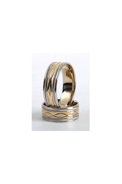 LEWIKO Zlatni vjenčani prsten s ornamentom