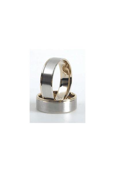 LEWIKO Vjenčani prsten od bijelog zlata s dijamantom 0,03ct
