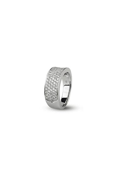 LEWIKO Zaručnički prsten bijelo zlato s dijamantima 0,88