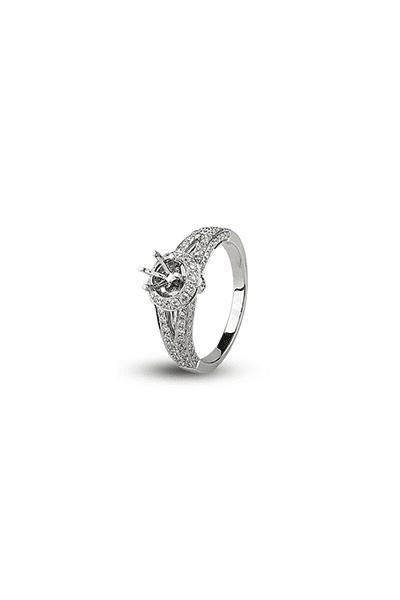 LEWIKO Zaručnički prsten bijelo zlato s dijamantima 0,79ct