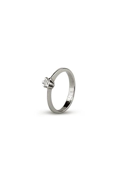 LEWIKO Zaručnički prsten bijelo zlato s dijamantom 0,10 ct