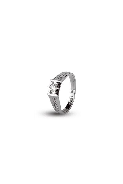 LEWIKO Zaručnički prsten bijelo zlato s dijamantom 0,21 ct