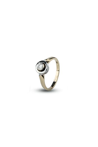 LEWIKO Zaručnički prsten zlatni s dijamantom 0,18 ct
