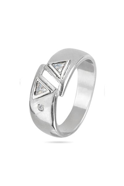 Srebrni prsten s cirkonima