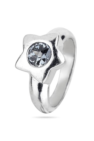 Srebrni prsten sa svijetlo plavim cirkonom
