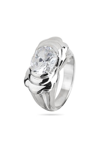 Srebrni prsten s bijelim cirkonom