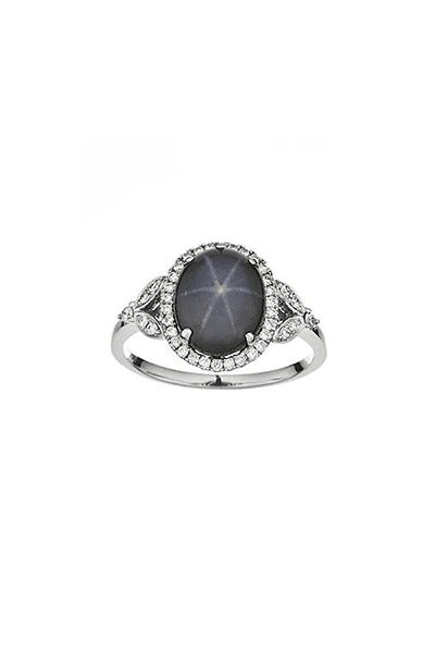 Prsten s dragim kamenjem Star safir i dijamantima