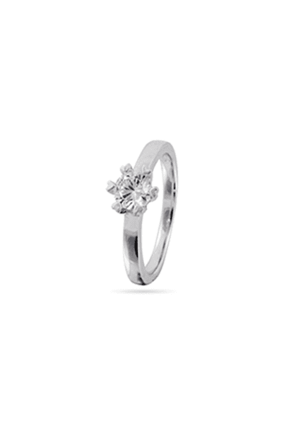 Zaručnički prsten od srebra klasični solitaire