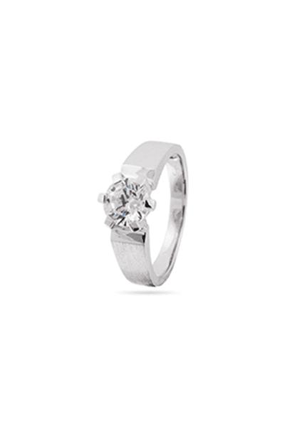 Zaručnički prsten od srebra s cirkonom solitaire
